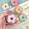 Doughnut felt hair clip, summer, yummy, sweets, accessory for a girl