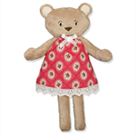 Soft Minky POLLY Bear with Strawberry Dress