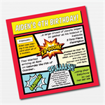 Superhero Comic Book Printable Custom Invitation