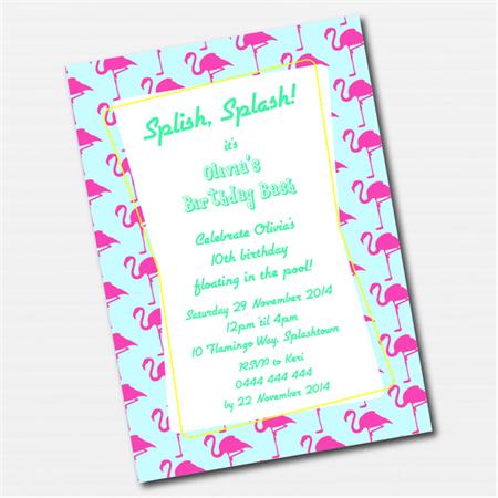 Vintage Flamingo Printable Custom Invitation