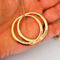 Mum Jewellery, Mother Necklace, Gift For Mum, Hand Stamped Washer Necklace