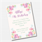 Watercolour Floral Printable Custom Invitation