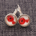 Red Poppies~ Lever Back Earrings