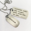 Wedding Day Son in Law Gift, Marriage Gift, Mens Dog Tag Necklace, Personalised