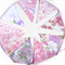 Vintage Bunting - Retro Pink Purple Floral Flags. Birthday Party Decoration