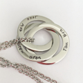 Russian Rings Necklace, Hand Stamped Mother Jewellery, Necklace For Mum