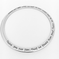 Dr Seuss Quote Bangle, Graduation Gift, Birthday Gift, Today You Are You