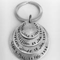 Mothers Day Gift, Hand Stamped Keyring, Anniversary Gift For Husband