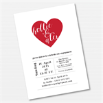 Heart Engagement Printable Custom Invitation