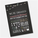 Vintage Rustic Chalkboard  Printable Custom Invitation