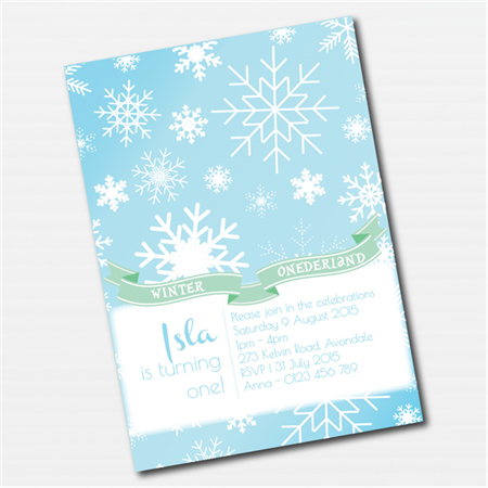 Winter Wonderland Printable Custom Invitation