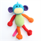 'Mikey' the Crochet Monkey - rainbow colour block - *READY TO POST*