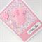 Baby Girl Card - Fluffy Pink Babysuit