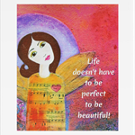 "Angel art - Angel home decor - Imperfectly Perfect - 8x10"" (unmatted/unframed)"