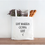 Reusable Grocery Bag List Makers gonna list