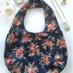 Navy & floral | reversible boho style tote handbag