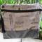 Ladies Shoulder/Crossbody/Messenger Bag - Steel Grey Print with Faux Snakeskin