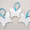 White butterfly decorations, ornaments. New baby gift, Christening. Ceramic.