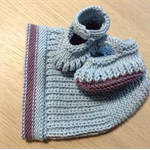Baby Beanie and Shoes Set