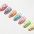 Gingham baby/Toddler snap clips