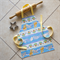 Kids/Toddlers Reversible Apron blue - Sweet Treats kitchen/craft/art/play apron