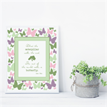 Beautiful Butterfly Quote Print