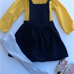 Navy Pinny - size 1 to 4