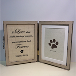 Pet memorial frame, Customized pet sympathy gift, Pet loss