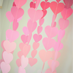 Baby Hanging Mobile | pink ombre hearts (large)
