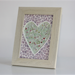A gift of love... mosaic heart frame