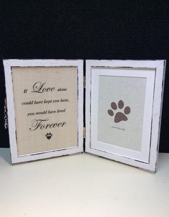 Pet loss frame, Pet sympathy gift, Pet memorial, Rainbow bridge gift ...