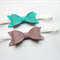 Lavender and Blue Leatherette Bow pair of Headbands.