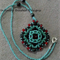 Ruby Red Pendant Beaded Necklace