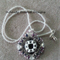 Grey Days Pendant Beaded Necklace