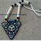 Blue Triangle Beaded Necklace