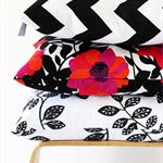 Twig Cushions for the Nest - Black / White Leaf Print