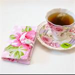 "TEA PURSE ""Pink Roses"""