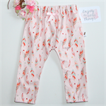 Pink Feathers Harem / slouch / play pants