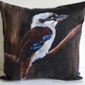 Cushion Cover, Laughing Kookaburra,  Bird, Wildlife, Colourful Throw Pillow