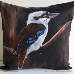 Cushion Cover, Laughing Kookaburra,  Bird, Wildlife, Colourful Throw Pillow