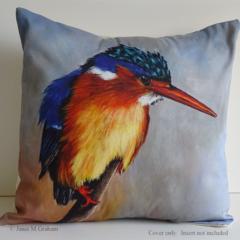 Cushion Cover, Kingfisher,  Bird, Wildlife, Colourful Throw Pillow, Decorative