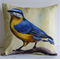 Cushion Cover, Nuthatch,  Bird, Wildlife, Colourful Throw Pillow, Decorative