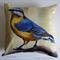 Cushion Cover, Nuthatch,  Bird, Wildlife, Colourful Throw Pillow, Decorative