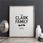 Family Est. Print