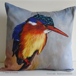 Cushion Cover, Kingfisher,  Bird, Wildlife, Colourful Throw Pillow, Decorative