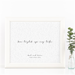 Wedding Vows Keepsake Print - Light of My Life