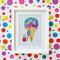 Framed children's art print - Mouse vs. icecream
