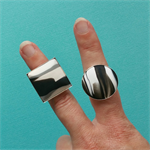 Black & white striking rings