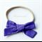 Purple Bow - Nylon Headband
