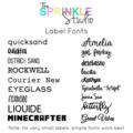 NAME LABEL - Medium Vinyl Name Label for drink bottles, lunchbox, school, work